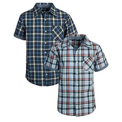 Ben Sherman Boys Short Sleeve Button Down Woven Dress Shirt (2 Pack)