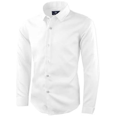 Black n Bianco Boys' Signature Sateen Long Sleeve Dress Shirt