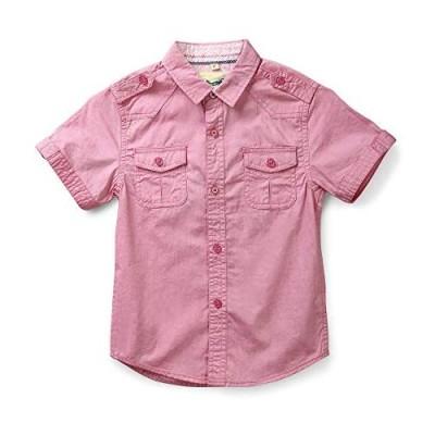 Boys' Summer Short Sleeve Button Down Cotton Lightweight Shirt