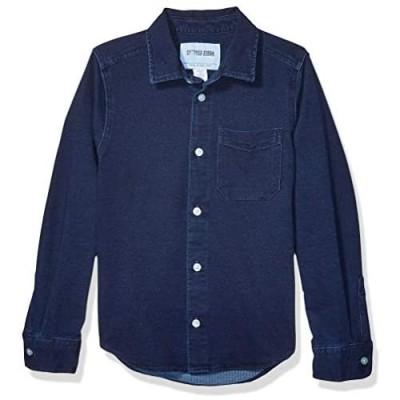 Brand - Spotted Zebra Boys' Knit Denim Shirt