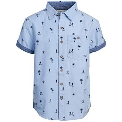 Free Planet Boys' Shirt - Casual Short Sleeve Button Down Collared Shirt