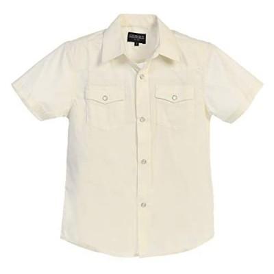 Gioberti Boys Solid Short Sleeve Western Shirt