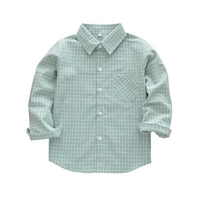 Kids Boy's Girl's Flannel Shirts Long Sleeve Button Down Toddler Plaid Shirts