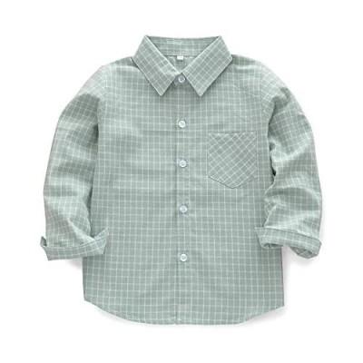 OCHENTA Little Big Boys' & Men's Long Sleeve Button Down Oxford Dress Shirt