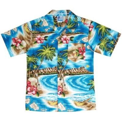 RJC Boys Hibiscus Hawaiian Island Shirt
