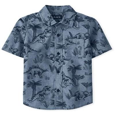 The Children's Place Boys' Short Sleeve Button Down Shirt