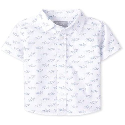 The Children's Place Boys' Short Sleeve Button Down Shirts