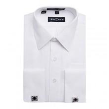 Viero Richi Boys French Cuff Dress Shirt Regular & Husky Sizes (Cufflinks Included)