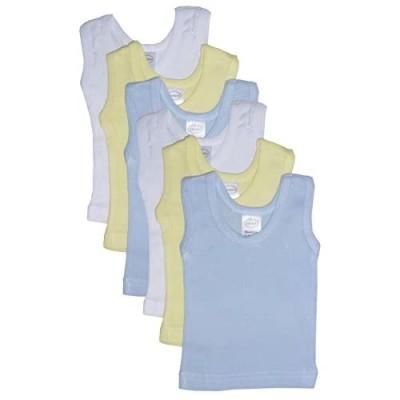 bambini Boy's Rib Knit Pastel Sleeveless Tank Top Shirt 6-Pack - M