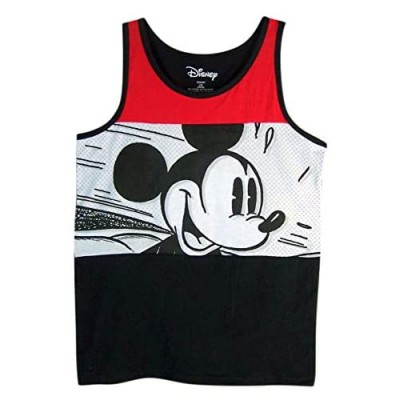 Boys Disney Red  White  and Black Mickey Mouse Speed Tank Top Shirt (Large)