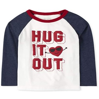 The Children's Place Boys' Toddler Hug It Out Raglan Top