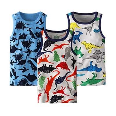 WINZIK Toddler Boys Girls Sleeveless Tank Tops Kids Cotton Vest Undershirt Graphic Summer Tee Shirt Clothes for 18M-6Y