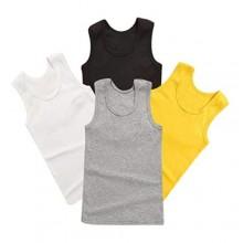 Yvinak 4 Pack Toddler Boys Sleeveless Tank Tops Undershirts Cami Comfortable Little Kids Boys Tank Tops