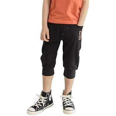 CUNYI Boys' 3/4 Capri Jogger Pull-On Pants with Drawstring Workout Pockets Shorts