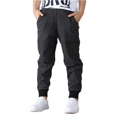 LOKTARC Boys Cotton Sweatpants Casual Drawstring Jogger Pants