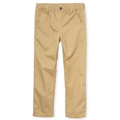 The Children's Place Boys' Uniform Pull On Chino Pants