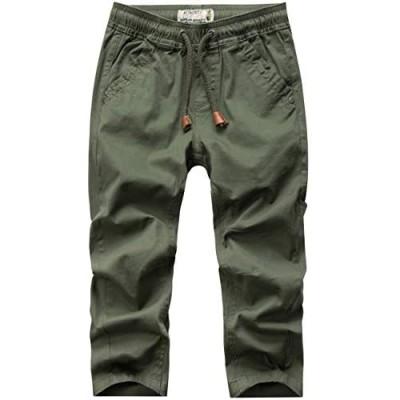 WIYOSHY Boys' Solid Color Drawstring Elastic Waist Chino Pants