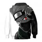 BEDJIMI Kids 3D Printed Anime Hoodie Hatake Kakashi Cosplay Pullover Sweatshirt for Child