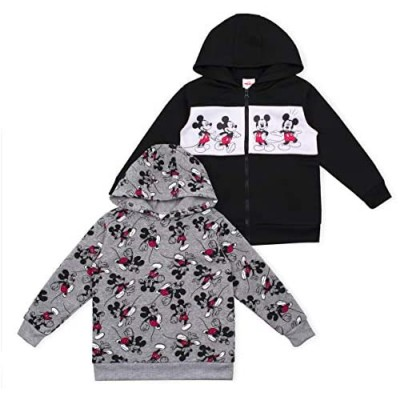Disney Boy's 2-Piece Mickey Mouse Zip Up Hooded Jacket and Pullover Hoodie Set