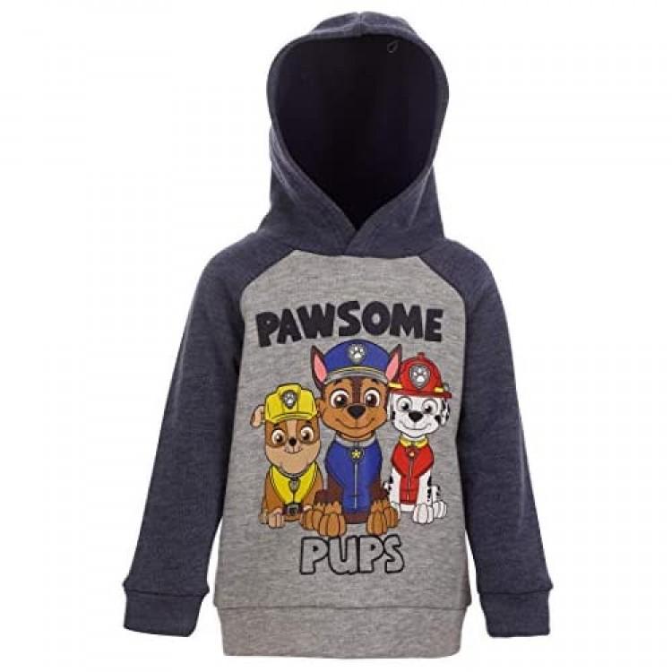 Nickelodeon Paw Patrol Chase Marshall & Rubble Boys Pullover Fleece Hoodie