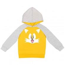 SEGA Sonic the Hedgehog Knuckles Tails Boys Fleece Pullover Long Sleeve Hoodie