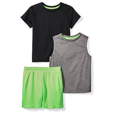 Brand - Spotted Zebra Boys' Active T-Shirt  Tank and Shorts Set