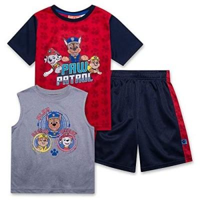 Paw Patrol Shirt Tank Top & Shorts 3 Piece Set Summer Active-wear Bundle Clothes for Boys