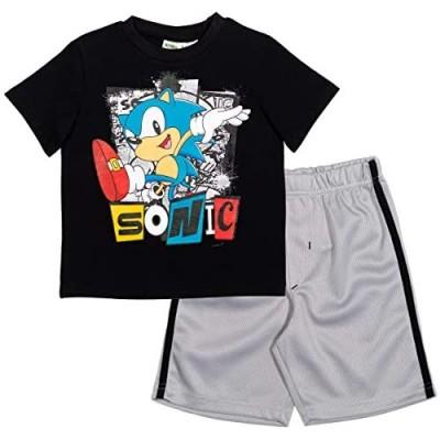 SEGA Sonic The Hedgehog Boys Graphic T-Shirt Mesh Shorts Set