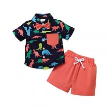 Toddler Baby Boy Clothes Shirt Tops Shorts Set Little Boy Summer Outfits Baby Boy's Clothing