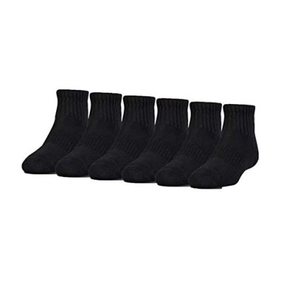 Under Armour Youth Cotton Quarter Socks  6-pairs
