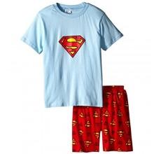 Big S Boys Shorts 2 Piece Pajama Set 100% Cotton Blue