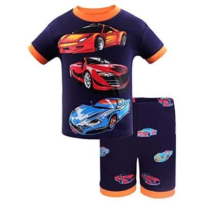 DAUGHTER QUEEN Boys Pajamas Short Set 100% Cotton Sleepwear Size 18 Months-12 Years
