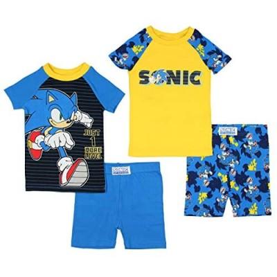 Sonic The Hedgehog Boys' 1 More Level 4 Piece Short Sleeve Pajama Set