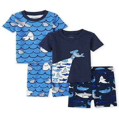 The Children's Place Baby Boys' Shark Four Piece Pajama Set