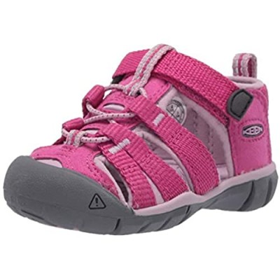 KEEN Toddler's Seacamp 2 CNX Closed Toe Sandal  Very Berry/Dawn Pink  6 T (Toddler's) US