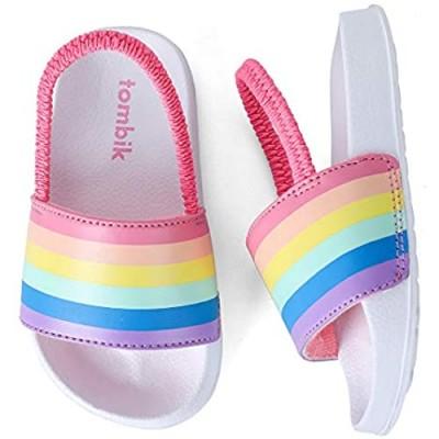 tombik Toddler Boys & Girls Beach/Pool Slides Sandals | Kids Water Shoes