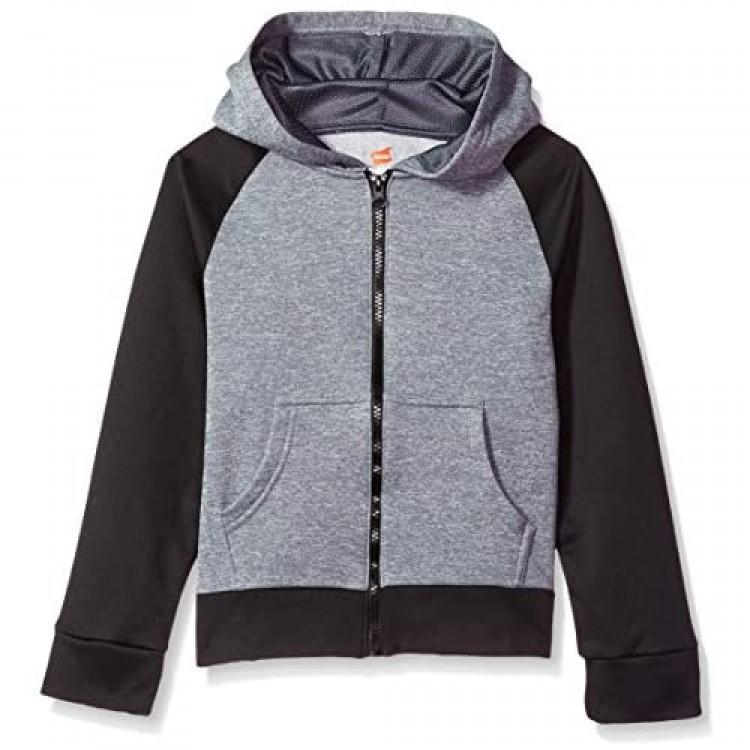 Hanes Girls' Big Tech Fleece Raglan Zip Hood