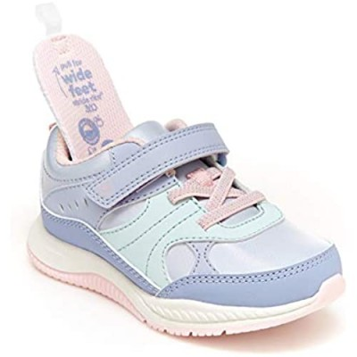 Stride Rite 360 girls Grayson Running Shoe  Blue/Aqua  8 Toddler US