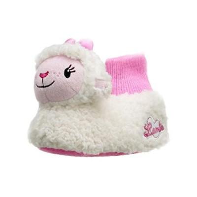 Doc McStuffins Toddler Girls 3D Lambie Head Plush Sock Top Slippers