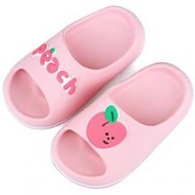 FJWYSANGU Toddler Fruit Bath Shower Slippers Kids Soft Slide Sandals Non-Slip Summer Beach Shoes Boys Girls Pink Blue Yellow Green