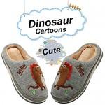 INMINPIN Boys Girls Cozy House Slippers Warm Plush Winter Cotton Slipper Kids Cute Dinosaur Indoor Shoes Non-Slip