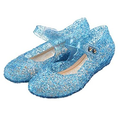 Frozen Inspired Elsa Costumes Flats Shoes  Snow Queen Princess Birthday Sandals for Little Girls  Toddler or Kids