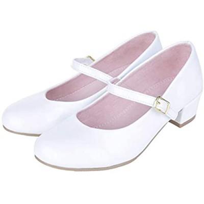 MIXIN Girls Mary Jane Dress Shoes - Princess Ballerina Flats for School Party Wedding (Little Kid/Big Kids)