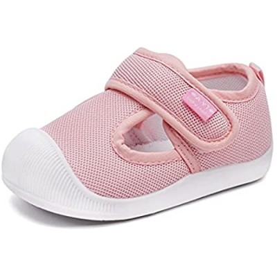 BMCiTYBM Baby Sneakers Girls Boys Lightweight Breathable Mesh First Walkers Shoes 6-24 Months