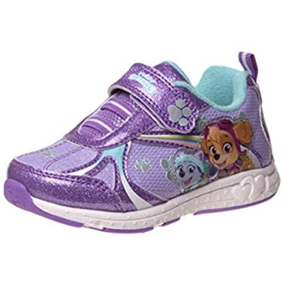 Nickelodeon Girls' Paw Patrol Sneakers - Laceless LED Light Up Running Shoes (Toddler/Little Kid)