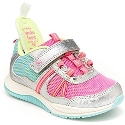 Stride Rite 360 Girls Blast Sneaker  Pink/Aqua  6 Toddler