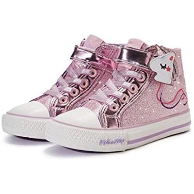 Weestep Girls Toddler/Little Kid Glitter Unicorn Bow Sneaker Shoe