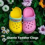 Qianle Toddler Garden Clogs Slip On Water Shoes