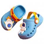 THAIHOEY Kids Cartoon Clogs Boys Girls Toddler Slip-on Sandals No-Slip Beach Pool Slippers
