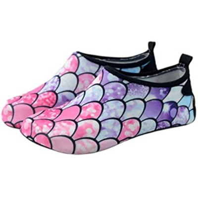Girls Boys Water Shoes Quick-Dry Barefoot Aqua Swim Shoes for Beach Pool Surfing Walking Soft